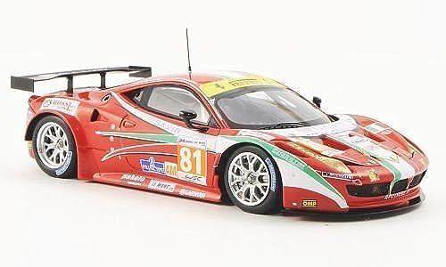 Ferrari 458 Italia GT2, No.81, AF Corse, 24h Le Mans, 2012, Modellauto, Fertigmodell, Fujimi 1 43