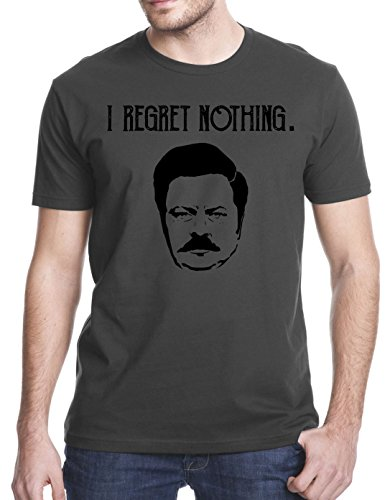 I Regret Nothing Swanson T-Shirt, Medium, Charcoal Gray