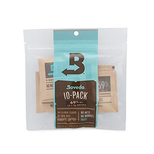 Boveda 葉巻/タバコ用 69-RH 2-湿度 コントロール サイズ 8 使用 使用 最大 5 葉巻 特許取得 技術 シガー ヒュミドール 10-カウント 再密封 バッグ 10