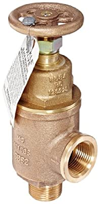 """Kunkle 0019-E10-MG0050 Bronze Liquid Relief Valve, 50 Preset Pressure, 1"""" NPT Female Inlet x NPT Male Outlet from Tyco Valves & Controls"""