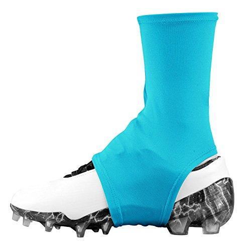 Dmaxx Spats Football Cleat Covers (Columbia Blue, Medium)