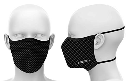 Alpine Innovations Single Mask| or| 8 Pack of Filters (Filters are Sold Separately) | - Carbon Fiber Mask