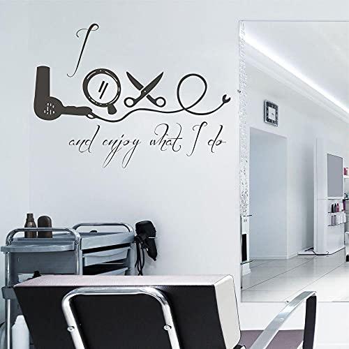 Pegatinas de decoración de pared con letras Me encanta y disfruto lo...