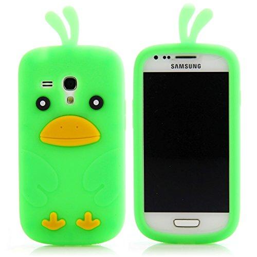 Handy Lux® Schutz Hülle Silikon Hülle Cover Etui Chicken für Samsung Galaxy S2 / S2 PLUS - Grün