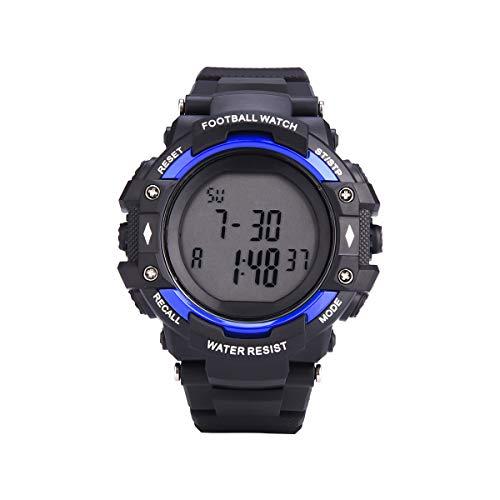 レフェリーウォッチ サッカー ウォッチ スポーツ 試合 ゲーム タイマー 30m防水 10LAP クロノグラフ カウントダウンタイマー 多機能 腕時計
