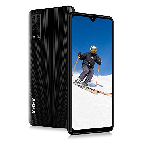 """Xgody X3 Smartphone Unlocked, 6.26"""" HD Perforated Screen for Android 9.0 Cellphones Cheap, Dual Sim-Free Mobile Phones with Face ID, 8MP Beauty Camera + 16GB ROM(Black)"""
