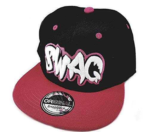 Snapback Sports Caps Gorra Negro Rosa Swag