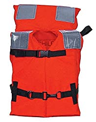 Kent Commercial Type I Jacket Style Life Jacket, Orange