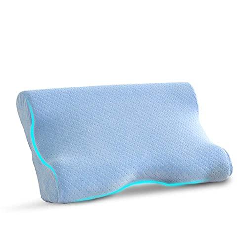 LIJIANZI Worth having - Almohada anti-arrugas de espuma de memoria de contorno, almohada de contorno de alivio de estrés, almohada cervical ergonómica para cama lateral, espalda y durmientes de estóma
