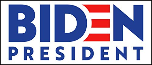 Official Biden President Bumper Sticker (Joe 20 2020 Vote for DNC Beat Trump)