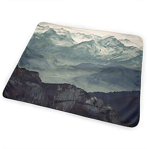 Tapis A Langer,Mountain Fog Coussinets D'Urine Pour Bébé Accrocheur Pour Lit De Voyage À Domicile 65x80 cm