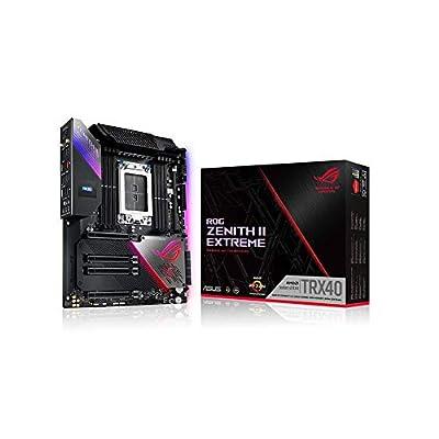 ASUS ROG Zenith II Extreme TRX40 Gaming AMD 3rd Gen Ryzen Threadripper sTRX4 EATX Motherboard with 16 Power Stages, PCIe 4.0, WiFi 6 (802.11ax), USB 3.2 Gen2 and Aura Sync RGB