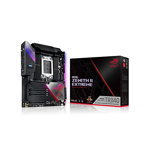 ASUS ROG Zenith II Extreme TRX40 Gaming AMD 3rd Gen Ryzen Threadripper sTRX4 EATX Motherboard with 16 Power Stages, PCIe 4.0, WiFi 6 (802.11ax), USB 3.2 Gen2 and Aura Sync RGB