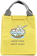 Fashion and High Quality New Cartoon Pattern Insulation Student Storage Bag(Yellow)