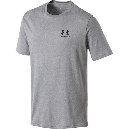 Under Armour Herren SPORTSTYLE LEFT CHEST SS Komfortables T-shirt, Grau (Grey/036), Medium