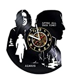 Wall Clock Compatible with Harry Potter Clocks - Vinyl Wall Clock - Gifts Presents for Birthday, Christmas, Ideas for Boys, Girls, Men, Women, Adults, him and her - Sport Unique Art Design