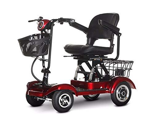 CYGGL Patinete eléctrico de Movilidad de 4 Ruedas, ciclomotor Plegable de Cuatro...