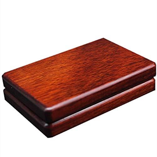 XFYJR Cigarette Case PurplesandalwoodPortable Handmade Wooden Cigarette Case Wenwan Cigarette CaseTwo Colors