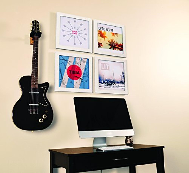 Easy Change Frame Show & Listen Schallplattenrahmen, Frame für Vinyl und LP Cover, dekorativer Wechselrahmen, 4er-Set wei
