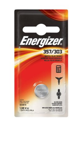 Energizer 357/303 Battery, 6 Count (Pack of 1)