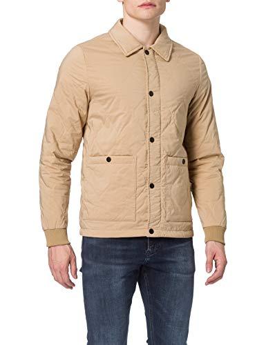 Scotch & Soda Classic Quilted Cotton-Blend Jacket Chaqueta, 0137 Sand, XL para Hombre