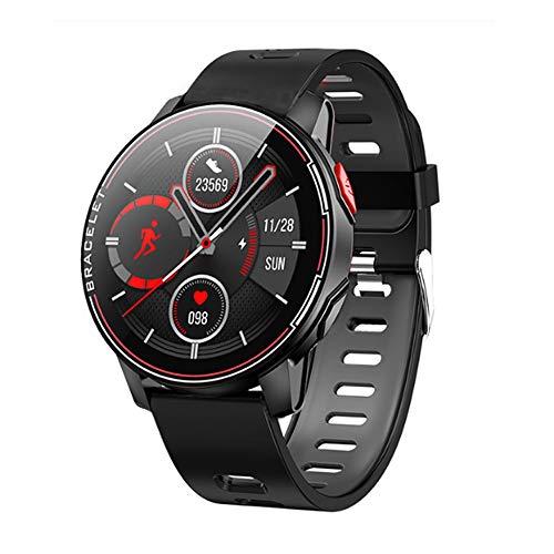 Reloj inteligente IP68, impermeable, deportivo, con Bluetooth, para hombre y mujer, con monitor de ritmo cardíaco, para Android IOS (negro)