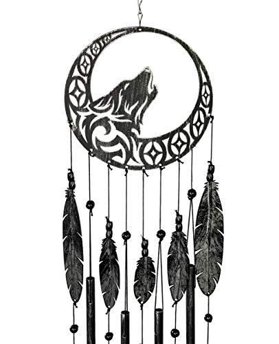 VP Home Tribal Wolf Traumfänger Outdoor Garten Dekoration Windspiel (Rustic Charcoal)