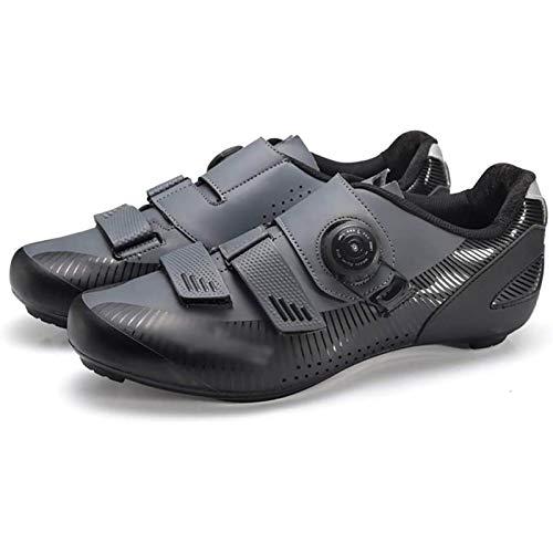 WDZJM Calzado de Ciclismo, Calzado De Ciclismo De Carretera Transpirable Y Resistente...