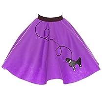 [ヒップホップ50sショップ]Hip Hop 50s Shop Poodle Skirt for Size Small 4/5/6 Purple [並行輸入品]