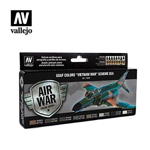 Vallejo AV'Vietnam War Usaf Colors' sistema Sea Model Air set