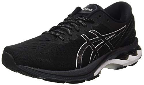 ASICS Mens Gel-Kayano 27 Running Shoe, Black/Pure Silver, 45 EU