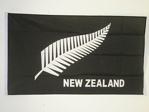 AZ FLAG Flagge NEUSEELAND All Black 90x60cm - NEUSEELÄNDISCHE Fahne 60 x 90 cm - flaggen Top Qualität