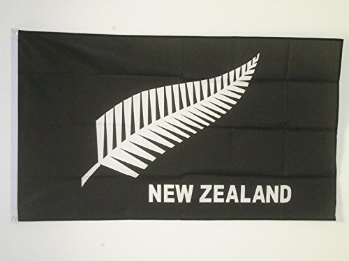 AZ FLAG Flagge NEUSEELAND All Black 150x90cm - NEUSEELÄNDISCHE Fahne 90 x 150 cm - flaggen Top Qualität