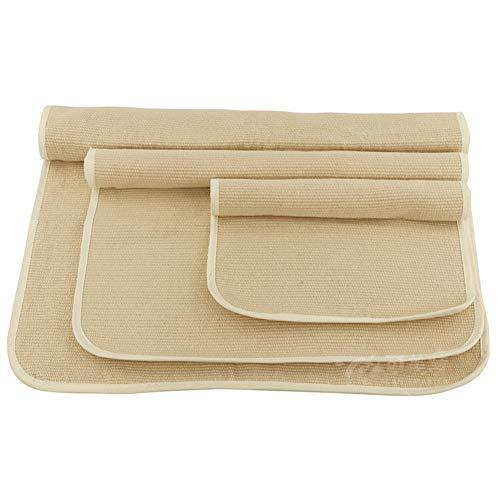 Wumudidi Off-White Montessori Cotton Arbeit Teppiche Montessori Materialien Zubehör Entwicklung der frühen Kindheit Lehrmittel 3pcs,3pcscarpet