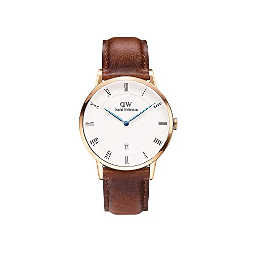 Daniel Wellington Herren Analog Quarz Smart Watch Armbanduhr mit Leder Armband DW00100083