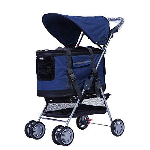 Lirui Huisdier-kinderwagen voor kleine honden, afneembare tas voor kinderwagen Puppy Premium Heavy Duty Dog Cat random color