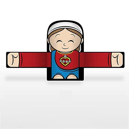 NAUXIU Embrace The Angel and Snap The Bracelet - Hugging Angel Slap Bracelets, Slap Bracelets Party Favors, Cartoon Angel Slap Wristbands, For Kids Boys Girls School Party Gift E