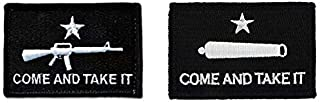 Antrix 2 Pack M16&Cannon Tactical Come and Take It Patches Hook & Loop Texas Gonzales Revolution Flag Military Morale Badge Patches