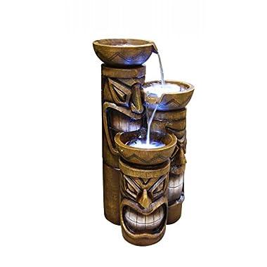 Alpine Corporation Tiki Fountain with LED Lights