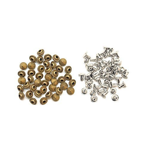 Trimming Shop 100 x 6.5mm x 5.25mm Messing Punk Cone Spike Studs met Pins Riem Tas Kleding Leer Craft