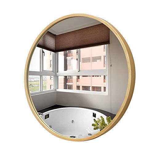 Bathroom mirror Ronde Murale Suspendue Salle de Bains Miroir vanité Table Maquillage Miroir Cadre en Bois Massif 50/60 / 70cm