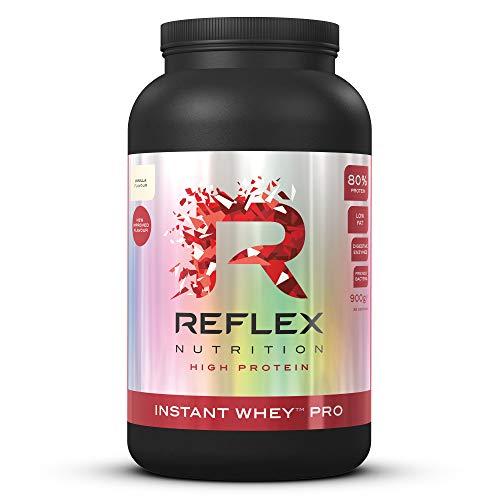 Reflex Nutrition Instant Whey Pro Protein Powder Shake 80% Protein Content Amazing New Taste Low in Carbs Protein Powder Vanilla 900g