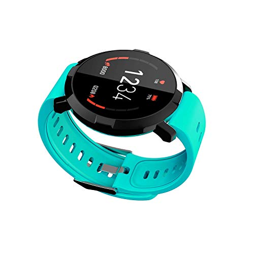 Zfeng Pulsera inteligente de frecuencia cardíaca para hombre y mujer, reloj inteligente deportivo multifunción M29, color verde