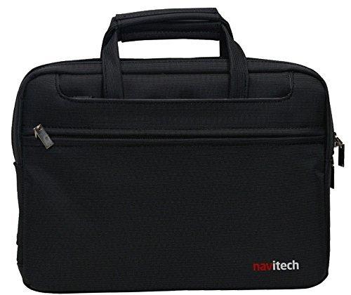 Navitech schwarzes premium leder Case / Cover Trage Tasche / speziell für das Medion Akoya P2214T 29,5 cm/11,6