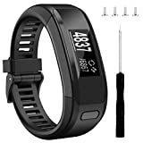 Wizvv Compatible Bands Replacement for Garmin Vivosmart HR, With Metal Buckle Fitness Wristband Strap