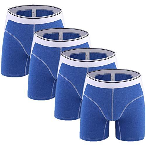 Boxershorts 4Pcs/Lot Men Underwear Boxer Man Ice Silk Underpants Trunk Panties Male Shorts for Mannen Funny Boxers Style C