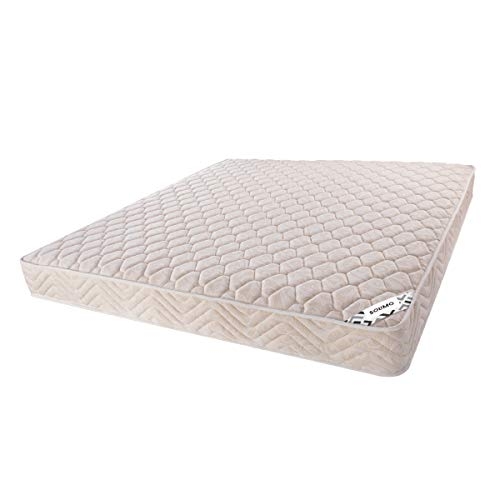 Amazon Brand - Solimo 5-inch Queen Size Coir Mattress (White, 72x60x5 Inches)
