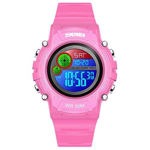 dmazing Sports Digitaluhr LED Wasserdicht Outdoor Kinderuhr Armbanduhr Mädchen Jungen - Geschenk für Kinder