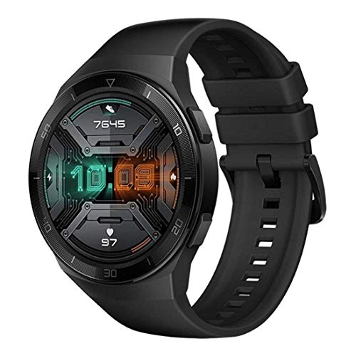 HUAWEI Watch GT 2e Sport – AMOLED Smartwatch 1,39 Zoll Display, 2 Wochen Akkulaufzeit, GPS, Schwarz