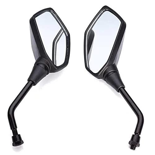 Espejos de Motocicleta para K & AWASAKIZ1000 Vista Posterior Negra Espejo retrovisor práctico